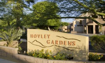 Hovely Gardens Entry Sign