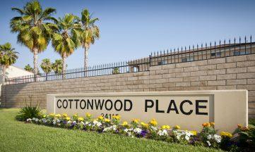 Moreno Valey Cottonwood Apartment sign